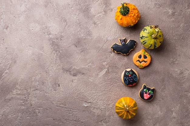 ハロウィーンジンジャーブレッド怖いお祝いクッキー