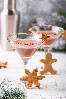 シュガークッキーマティーニとスプリンクルリム