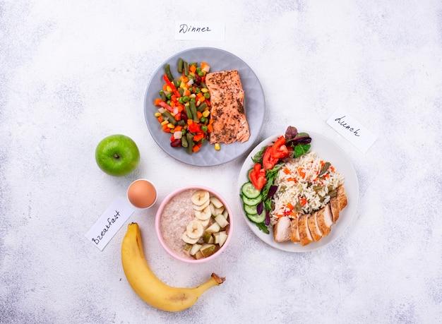 朝御飯、昼御飯、晩御飯。デイメニュー
