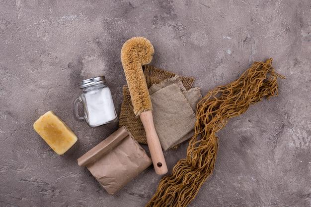 Ноль отходов натуральных аксессуаров для уборки