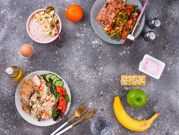 Здоровое сбалансированное меню на день