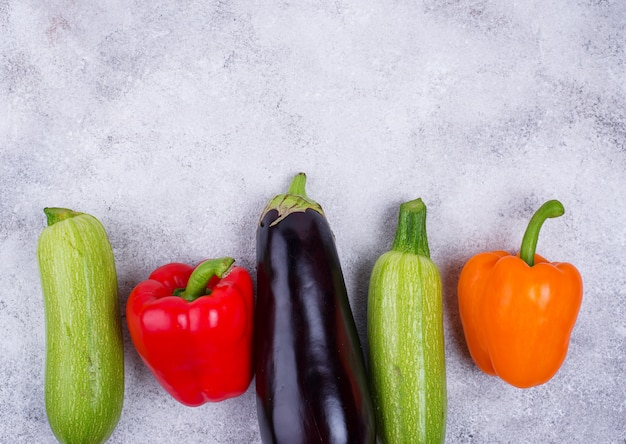 Баклажаны, цуккини и болгарский перец