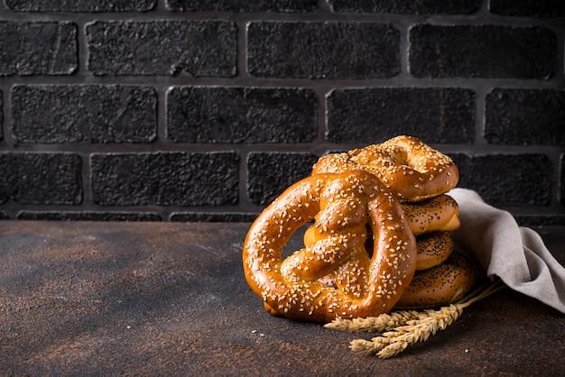 Крендели, традиционная баварская пекарня