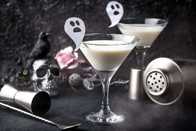 Хэллоуин кокосовые коктейли