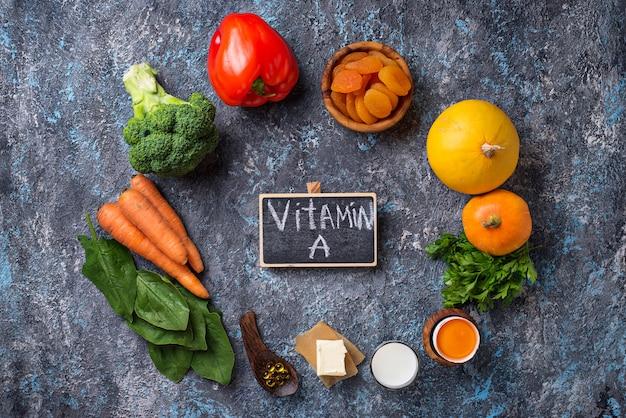 Здоровые продукты, богатые витамином а