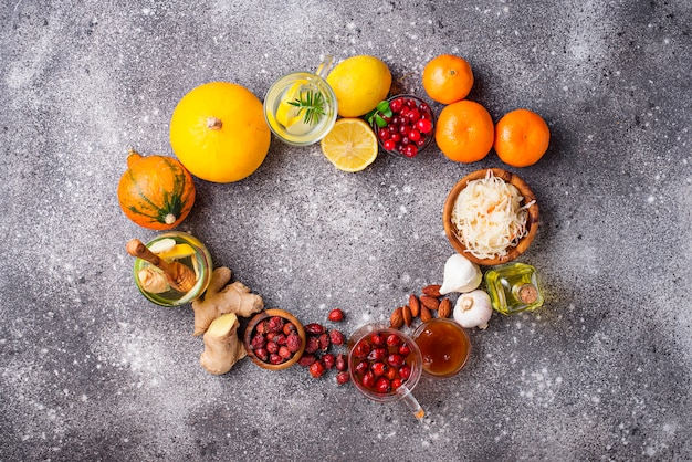 免疫力増強のための健康的な製品