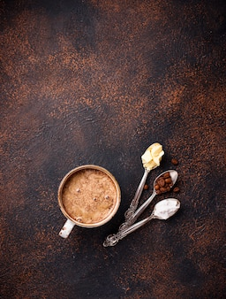 防弾コーヒー。ケトジェニック低炭水化物飲料