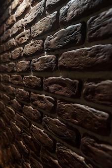 レンガ壁の背景。