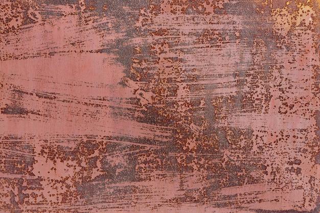 Текстура предпосылки старого металла с концом-вверх ржавчины.