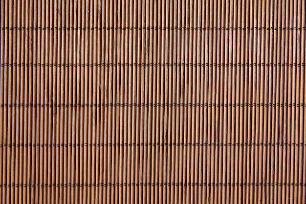 竹ナプキンのクローズアップの背景。