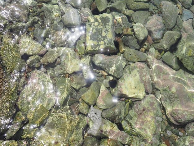 透明な海の水と底の背景