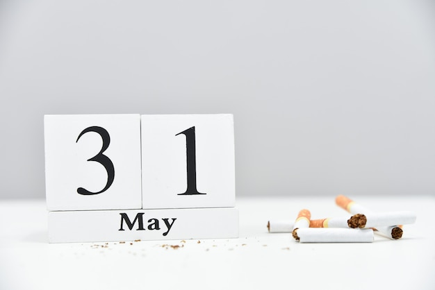 禁煙します。世界のたばこの日、世界のたばこの日