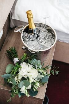 結婚式の日の美しい装飾