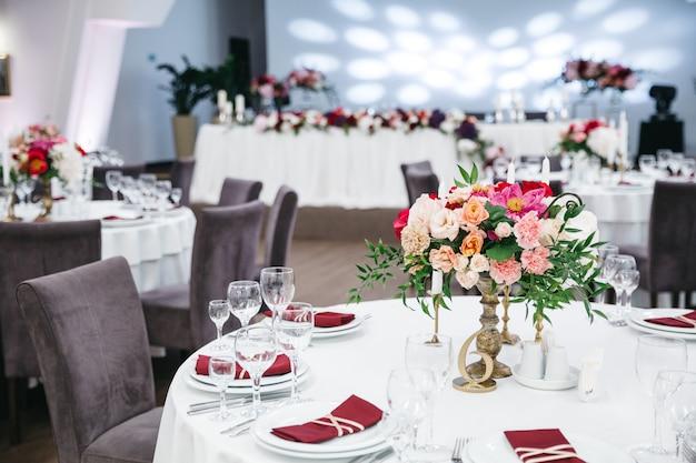 結婚式のレストランの装飾