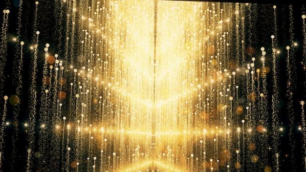 Золотой блеск и отражения фона и обои в награду и праздник.