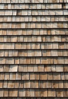 木製のタイル壁の背景