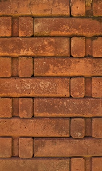 Полный кадр фона оранжевой кирпичной стены