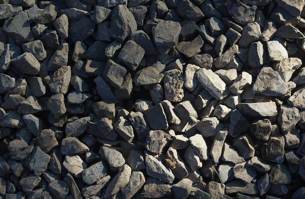 灰色の小石の背景