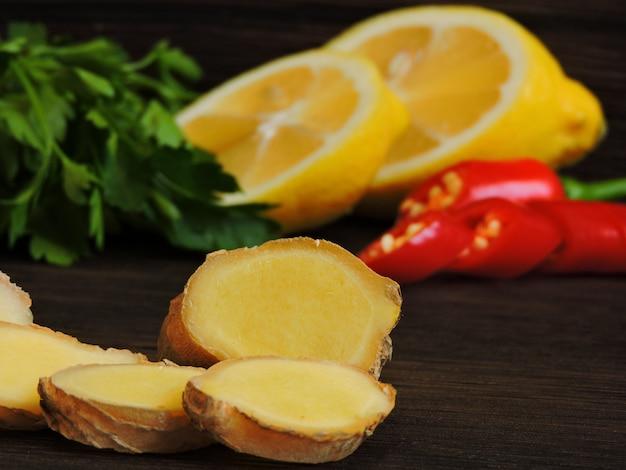 Петрушка лимонная и чили.