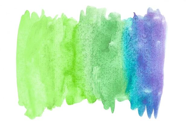 Абстрактная акварель искусства рука краска на белом фоне