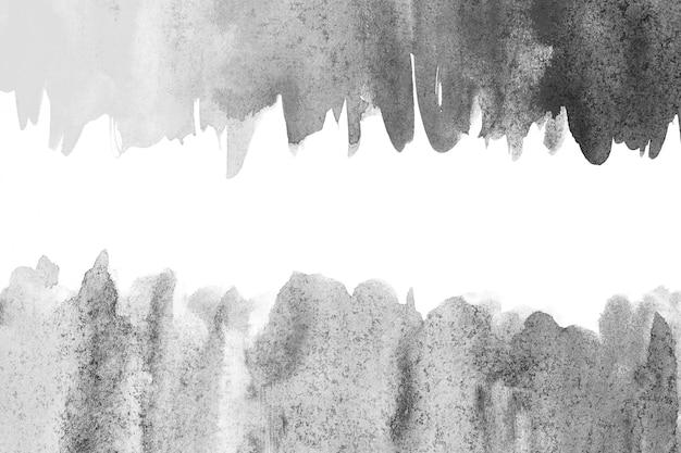抽象的な塗装の黒と白の水彩背景