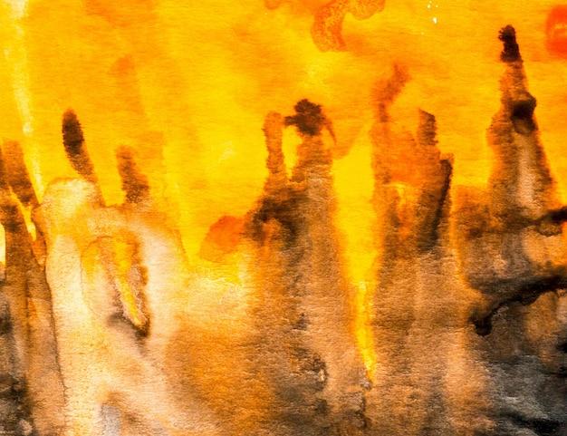 抽象的な塗装のカラフルな水彩背景