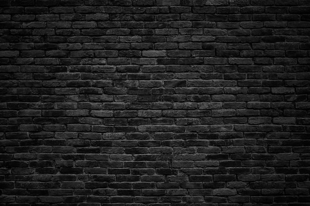 黒レンガの壁、設計のための暗い背景