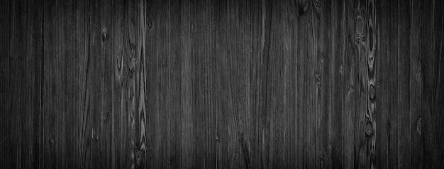 暗い木製の背景、黒のテクスチャパターン天然木製板