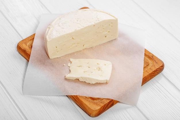 自家製のおいしいカッテージチーズ。健康食品のコンセプト