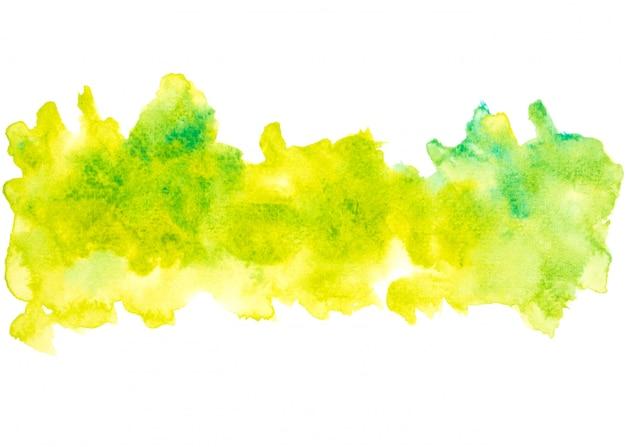 緑の水彩画の汚れ色合いペイントストローク