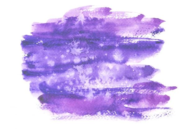 紫の水彩画の染み色合いペイントストローク