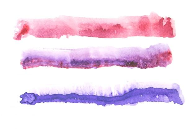 水彩画の染み色合いペイントストローク