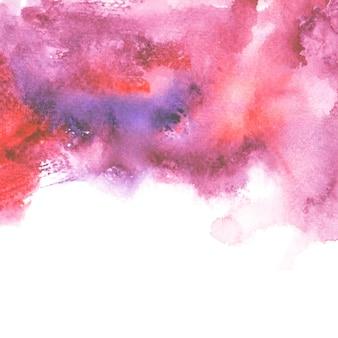 赤い水彩汚れ色合いペイントストローク