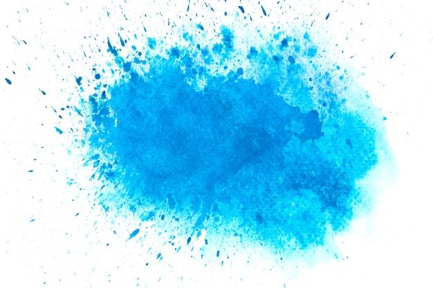 青い水彩汚れ色合いペイントストロークの背景