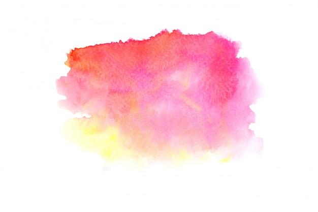 色合いとピンクの水彩画の汚れペイントストローク