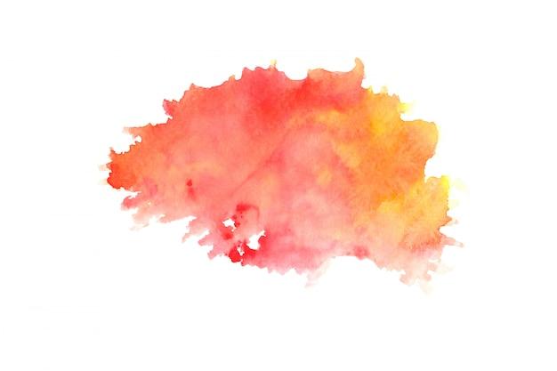 色合いと赤い水彩画汚れペイントストローク