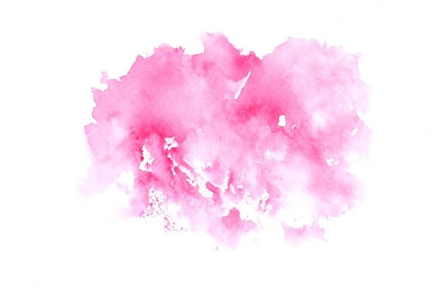 ピンクの水彩画の汚れペイントストロークの背景