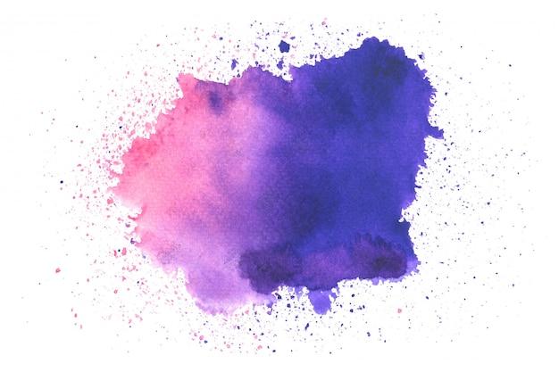 色合いと紫の水彩画の汚れペイントストローク