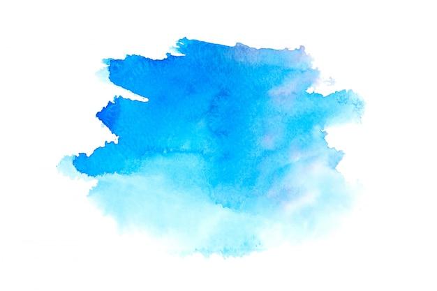 色合いと青い水彩画汚れペイントストローク