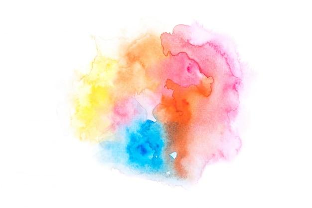カラフルな背景テクスチャデザインと虹水彩画