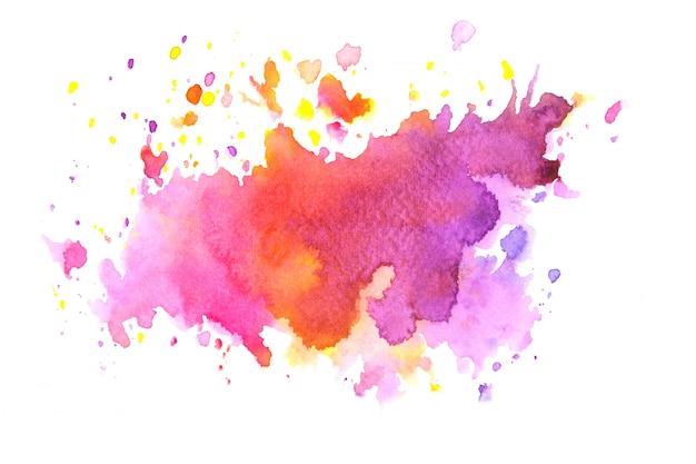 色合いとカラフルな水彩汚れペイントストローク