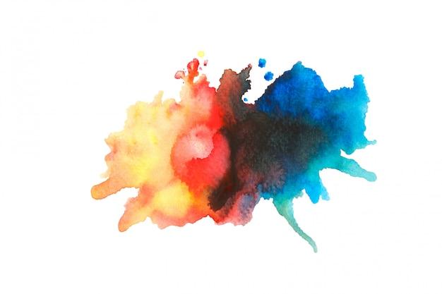 カラフルな色合いの背景を持つカラフルな水彩画のアイデア