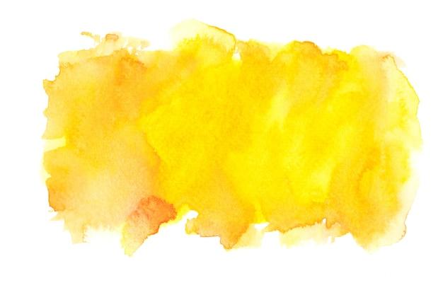 黄色の水彩ストロークの背景。