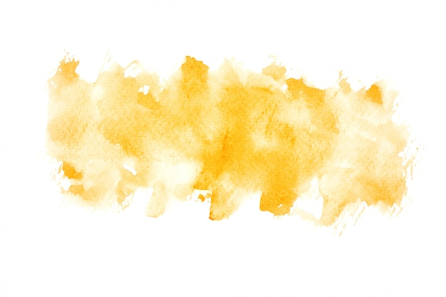 色合いのペンキの背景を持つ黄色の水彩画の汚れ