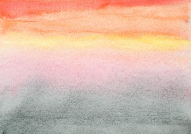 カラフルな色合いのペイントストロークの背景と水彩画