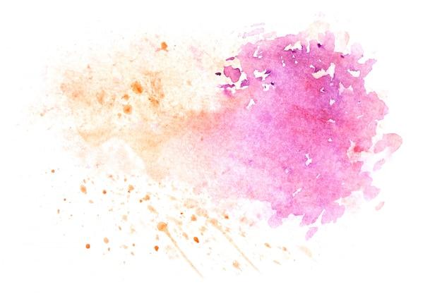 水彩画の汚れペイントストローク