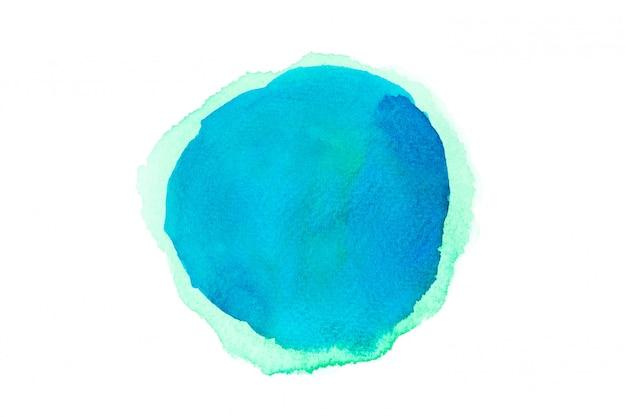 青い水彩汚れペイントストロークの背景