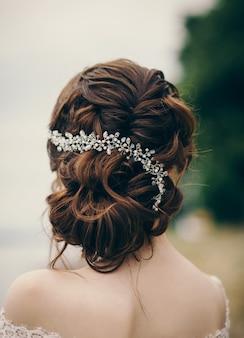 結婚式のヘアスタイルと美しい花嫁