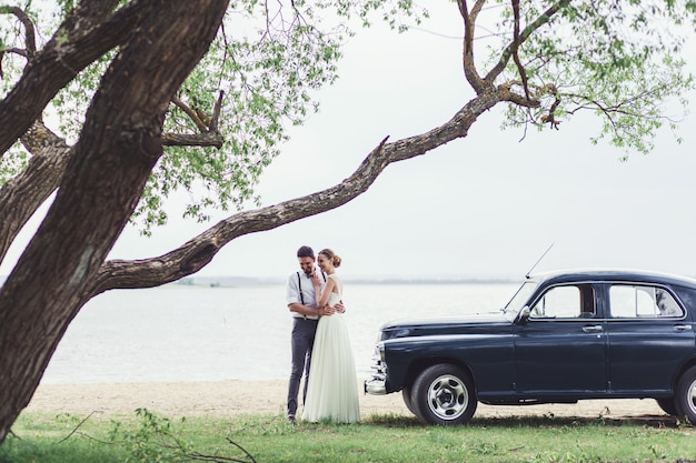Красивая свадьба пара жених и невеста