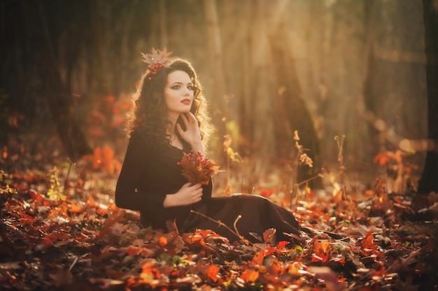 Портрет романтичной девушки